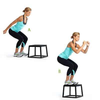 box squat jumps
